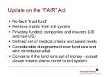 update on the fair act