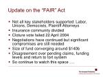update on the fair act1