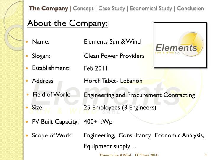 The company concept case study economical study conclusion