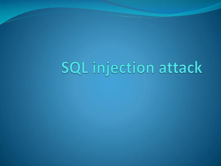 sql injection attack n.