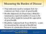 measuring the burden of disease