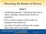 measuring the burden of disease1