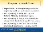 progress in health status
