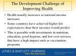 the development challenge of improving health