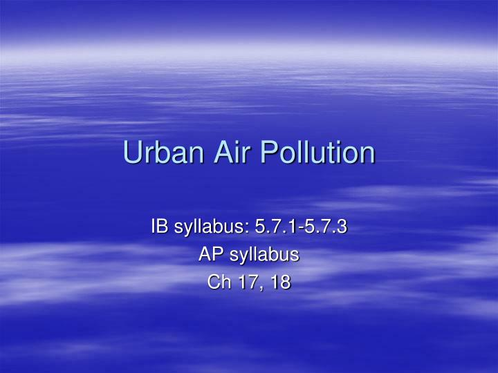 outline of air pollution