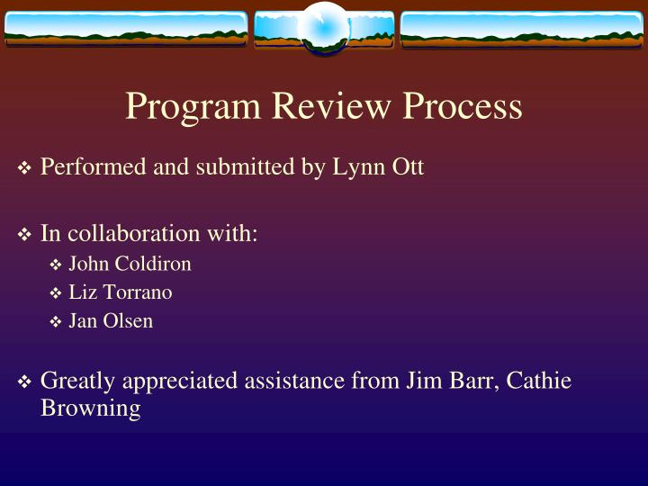 Program review process