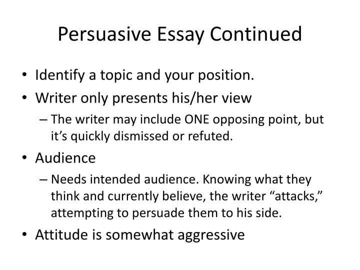 identify parts of a persuasive essay