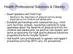 health professional solutions obesity