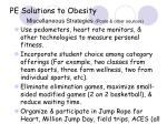 pe solutions to obesity miscellaneous strategies poole other sources