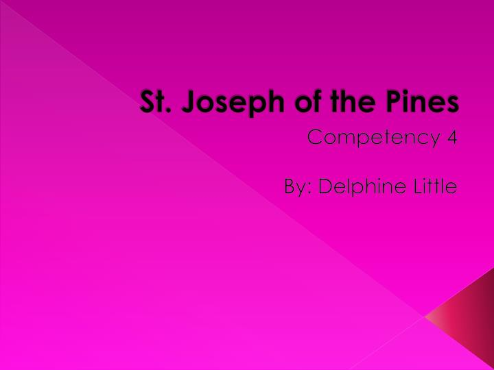 st joseph of the pines n.