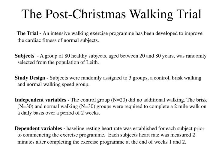 The post christmas walking trial
