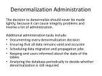 denormalization administration