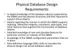 physical database design requirements