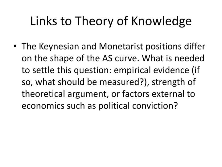 Links to Theory of Knowledge