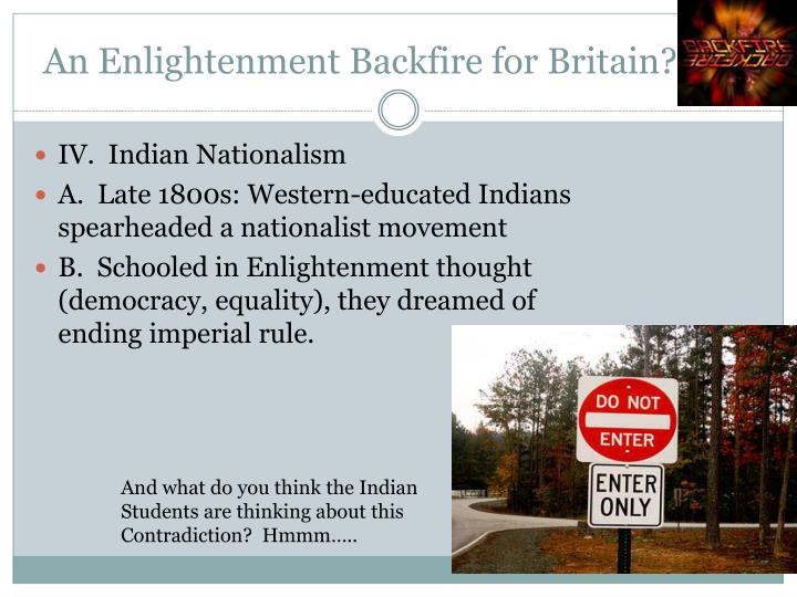 An Enlightenment Backfire for Britain?