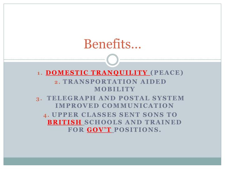 Benefits…