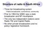 structure of radio in south africa