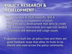 policy research development