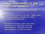 shared responsibility and policy partnership