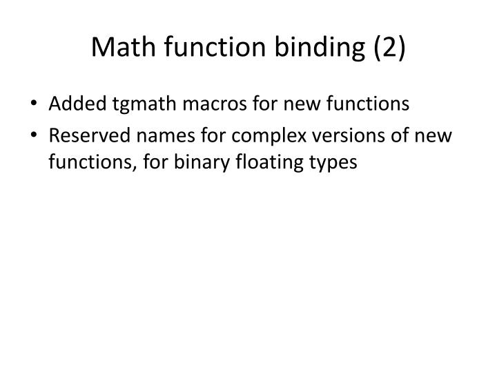 Math function binding (2)