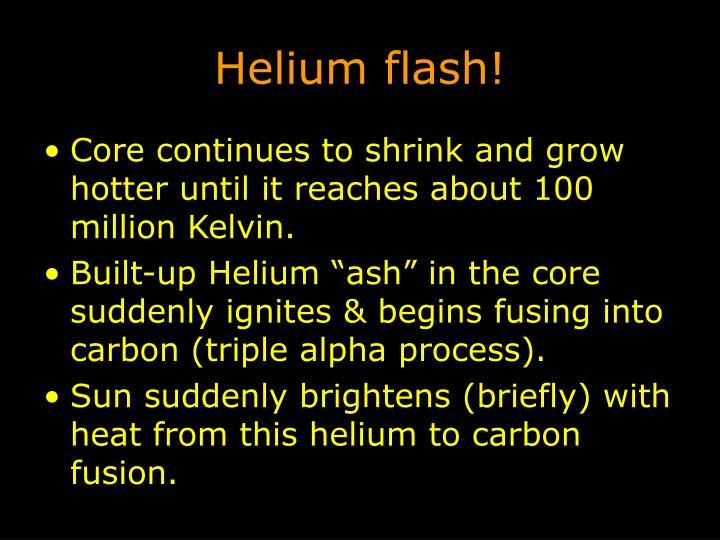 Helium flash!