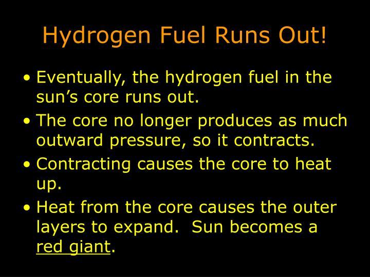 Hydrogen Fuel Runs Out!