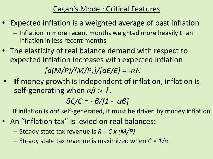 Cagan s model critical features