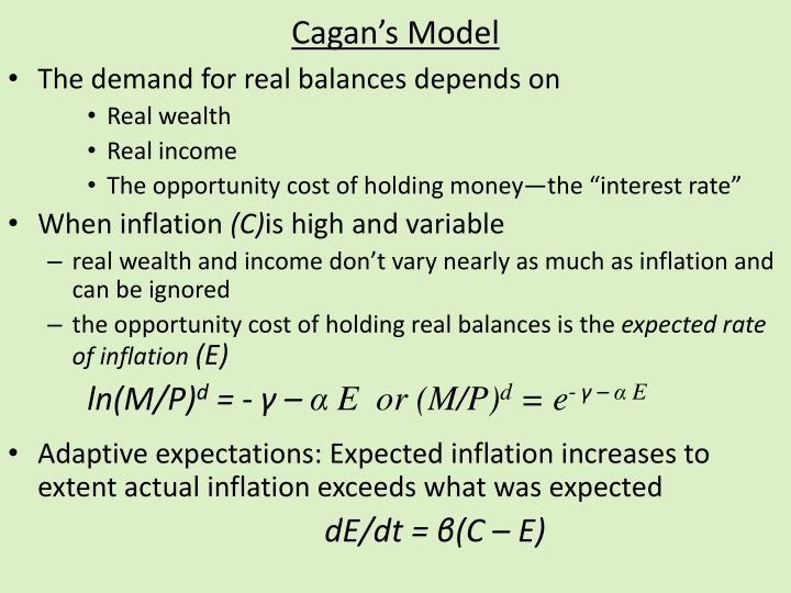 Cagan s model