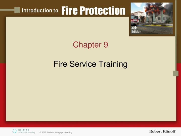 chapter 9 fire service t raining n.