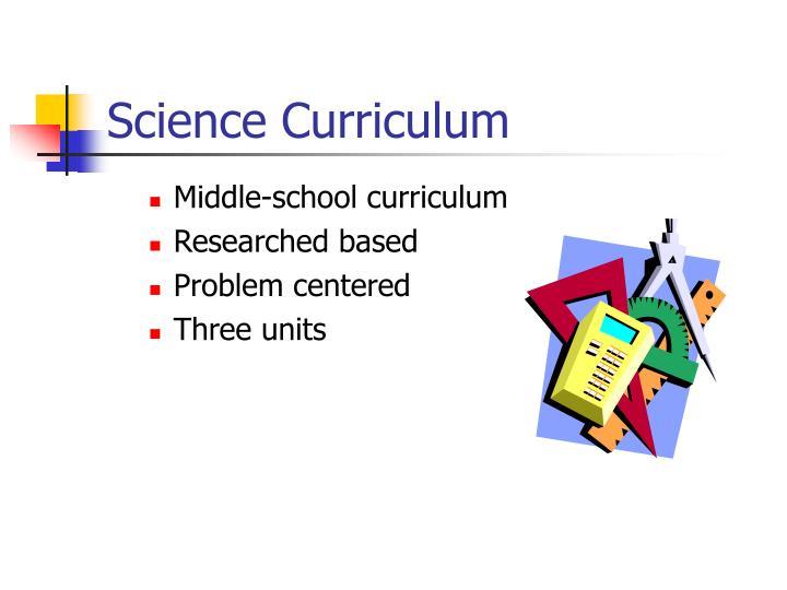 Science Curriculum