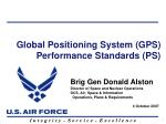 global positioning system gps performance standards ps