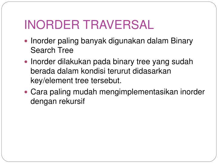 INORDER TRAVERSAL