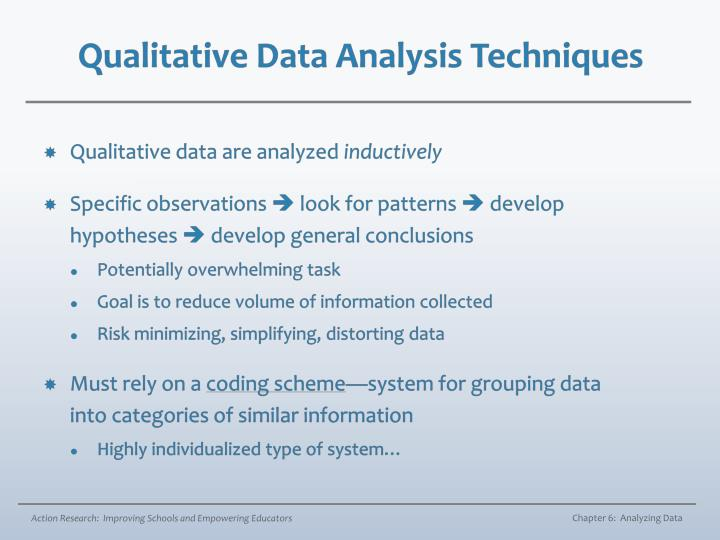 dissertation qualitative data analysis chapter Tation (if relevant), and methods of data collection and analysis used  chapter 1 a complete dissertation 7 purpose, or it does not stand alone as a document.