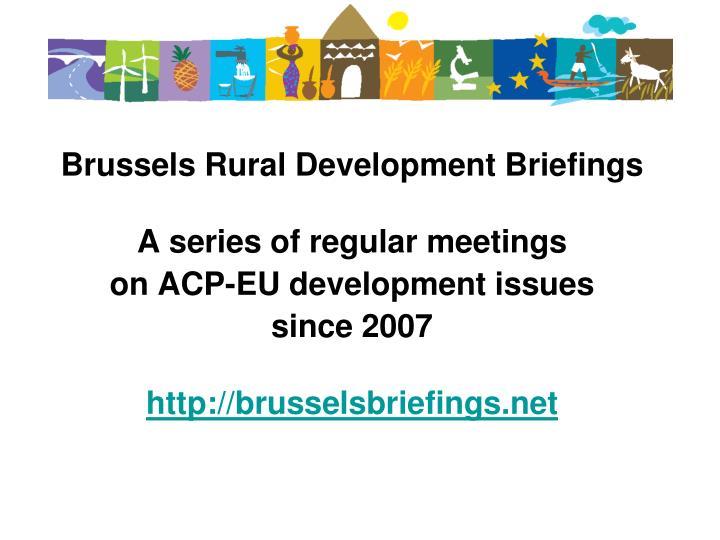 Brussels Rural Development Briefings