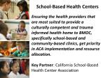 school based health centers