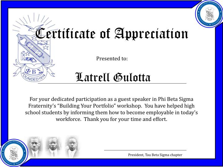 Ppt certificate of appreciation powerpoint presentation id2744734 certificate of appreciation yadclub
