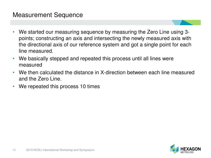 Measurement Sequence