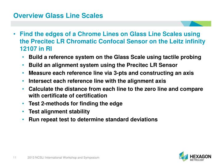 Overview Glass Line Scales