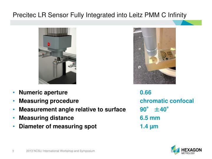 Precitec LR Sensor Fully Integrated into Leitz PMM C Infinity