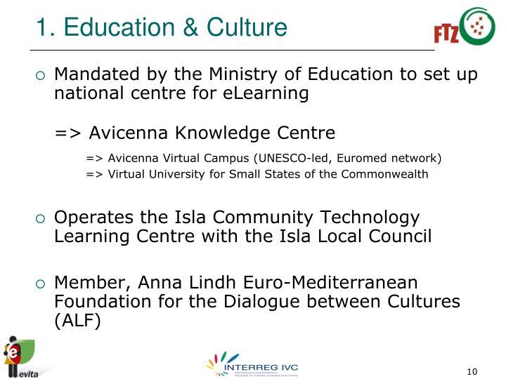 1. Education & Culture
