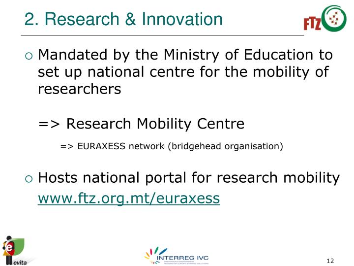 2. Research & Innovation