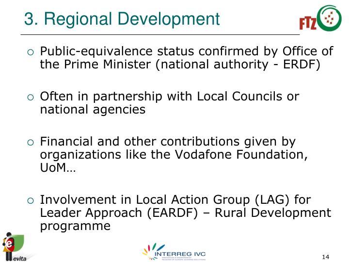 3. Regional Development
