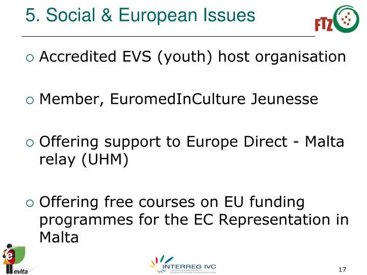 5. Social & European Issues