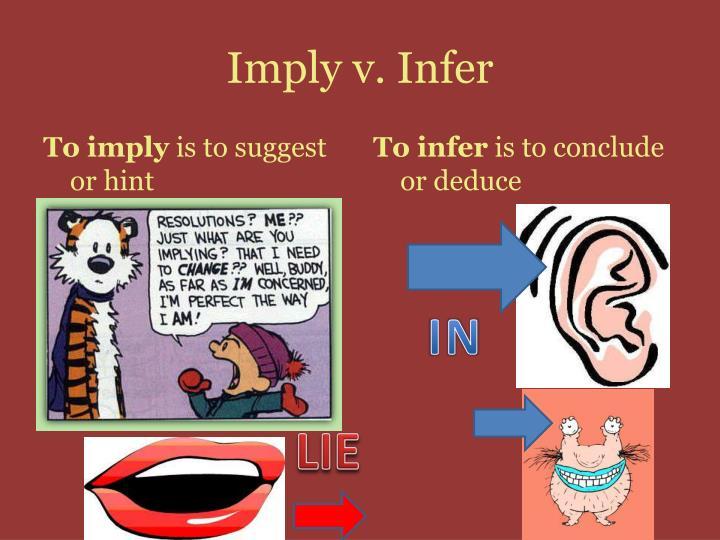 Imply v infer