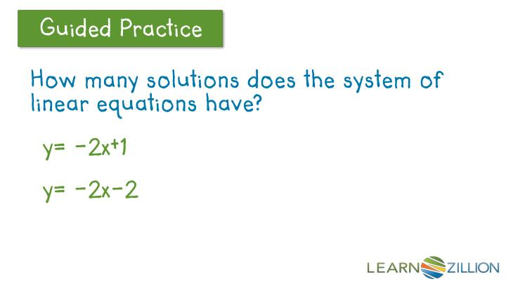 How many solutions does the system of linear equations have?