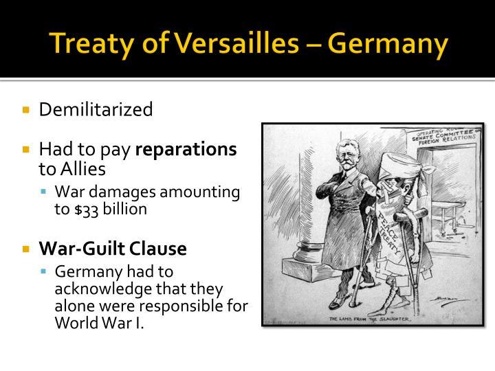 Treaty of Versailles – Germany