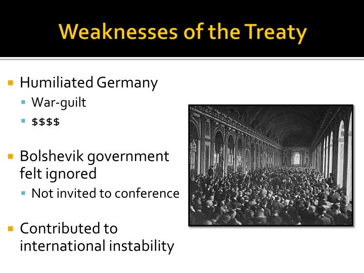 Weaknesses of the Treaty