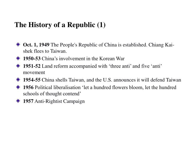 The History of a Republic (1)