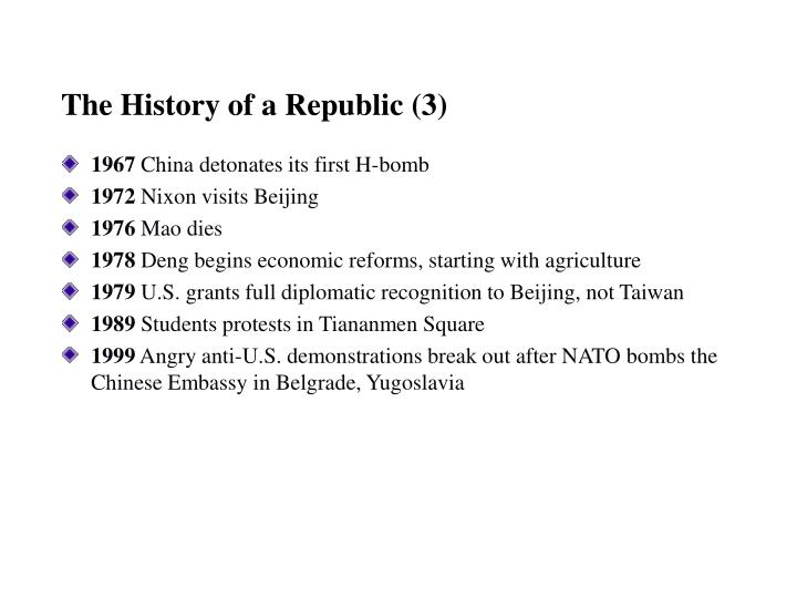 The History of a Republic (3)