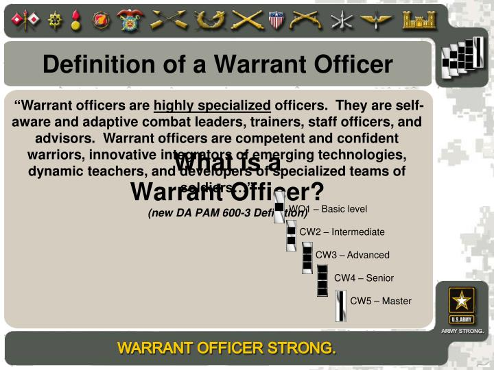 Definition Of A Warrant Officer
